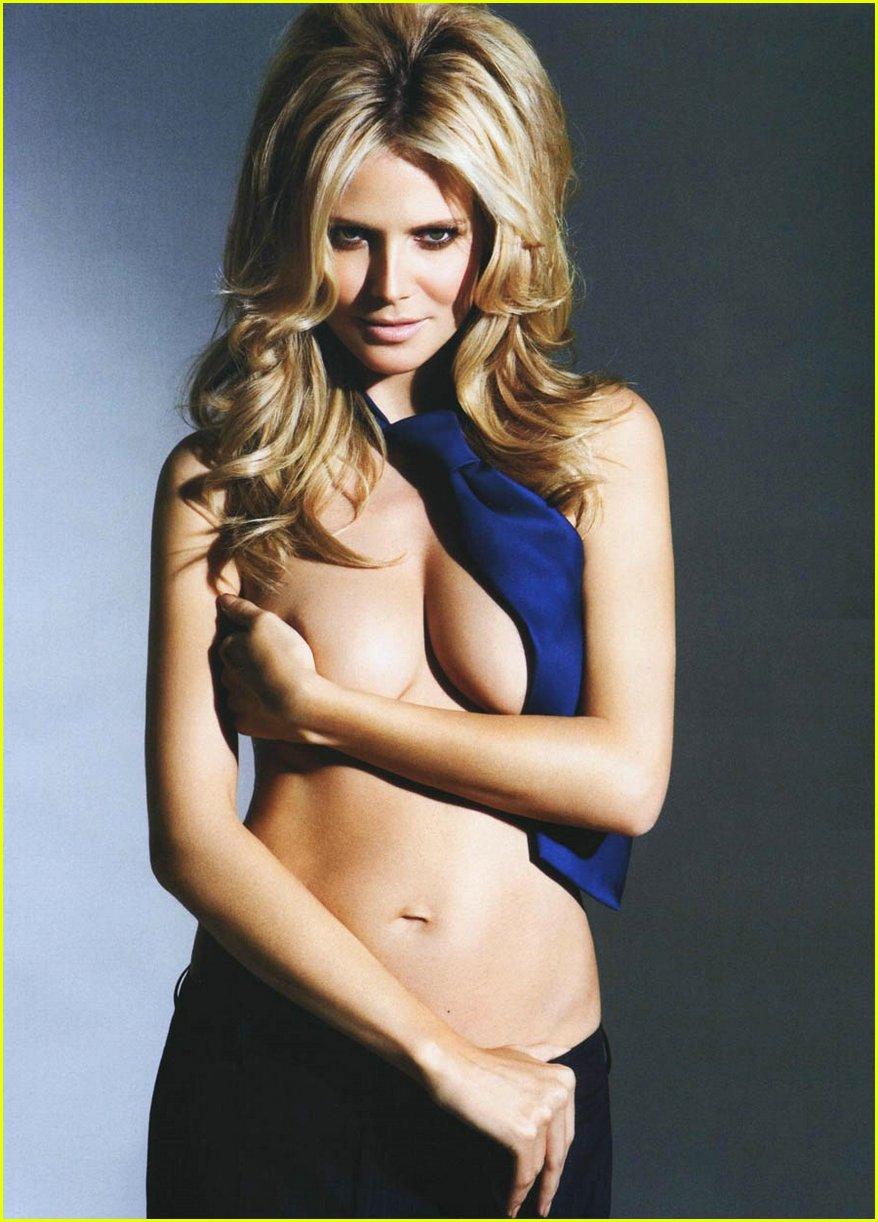 Heidi klum pregnant nude