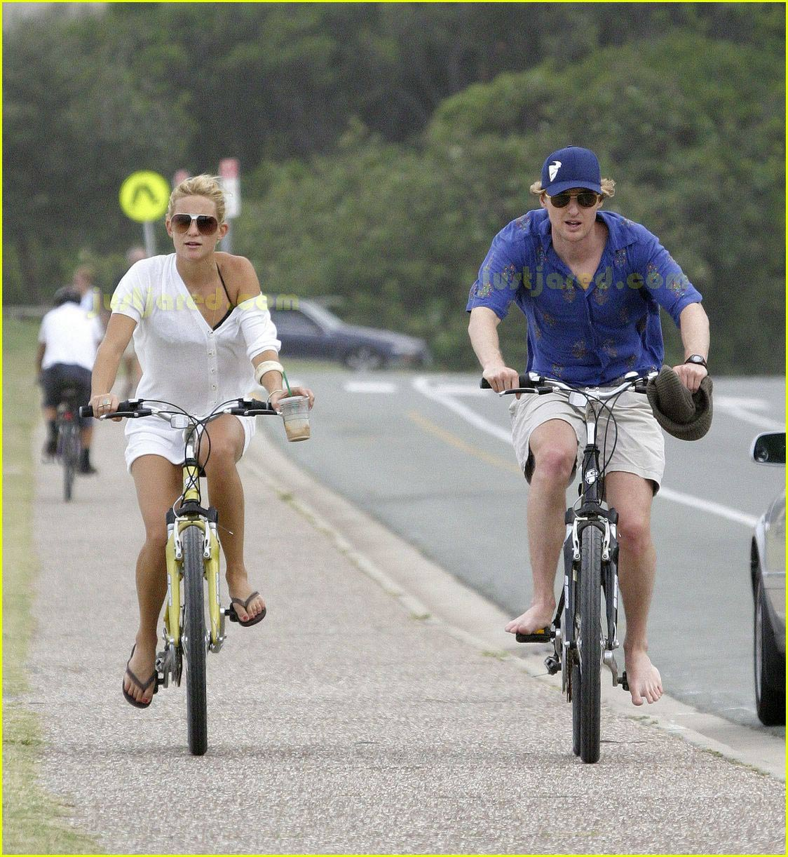 kate hudson owen wilson bike ride 01