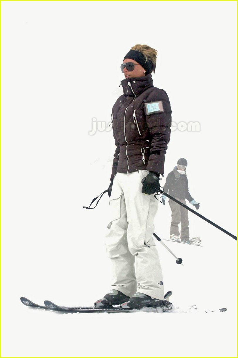 posh spice skiing 09