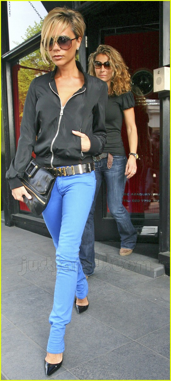 victoria beckham electric blue jeans 01