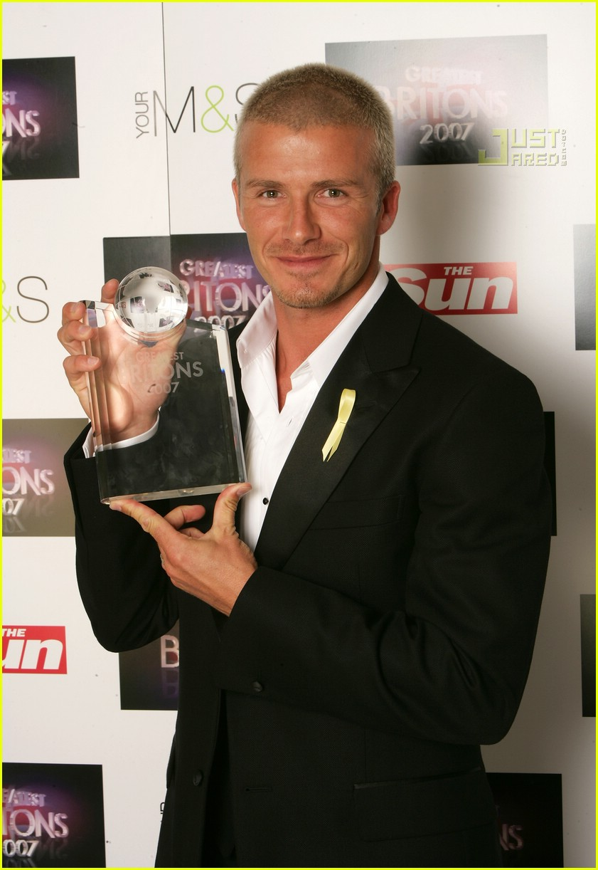 david beckham greatest briton award 09