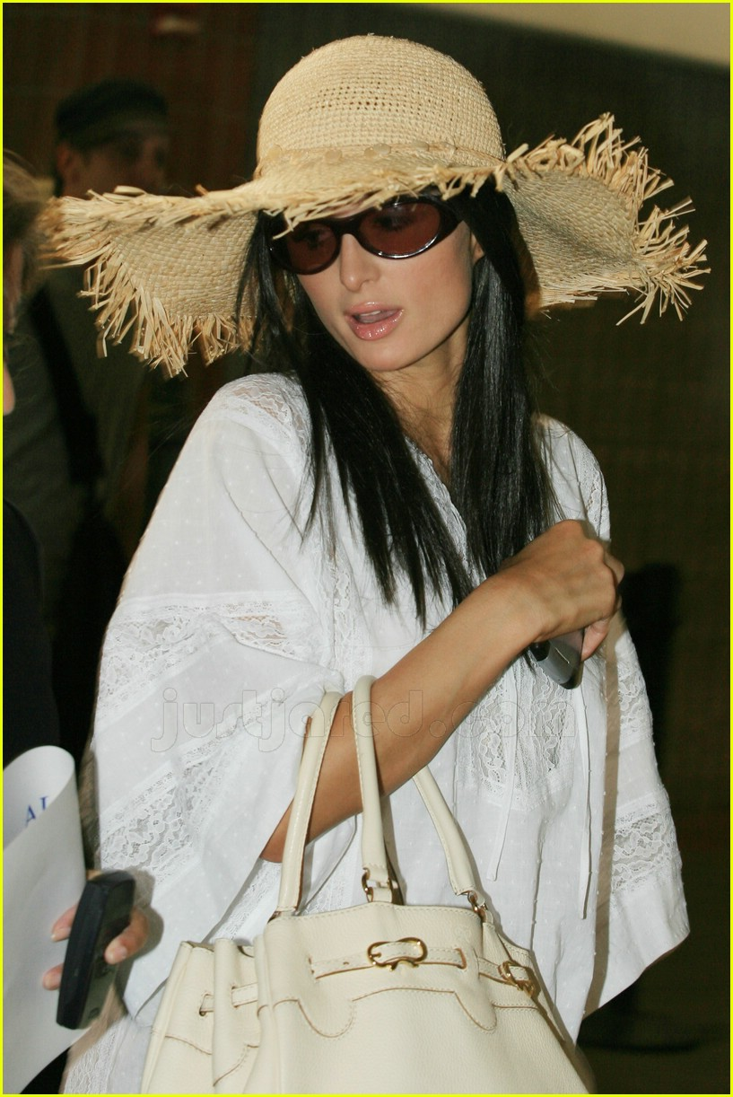 paris hilton wig straw hat 04463591