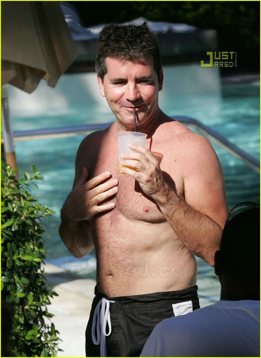 simon cowell shirtless 12621541