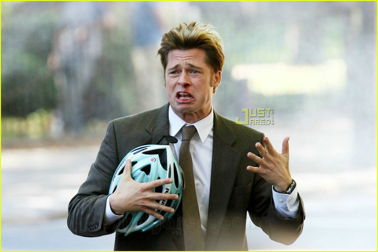 Brad Pitt Has a Bloody Nose Brad Pitt