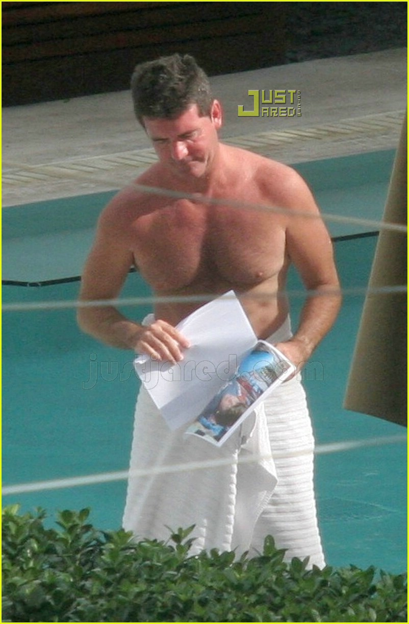ryan seacrest simon cowell shirtless 02