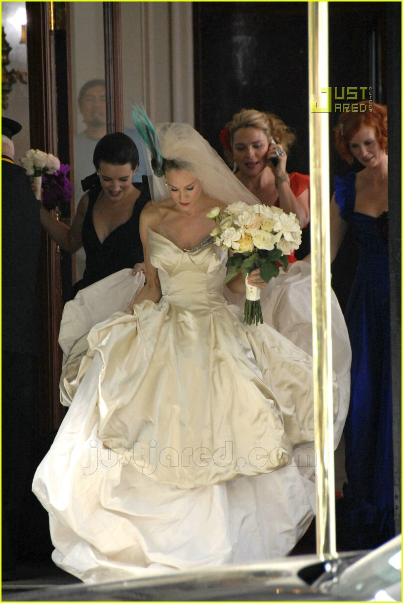 Sarah jessica parker wedding dresses discount wedding for Sarah seven used wedding dress