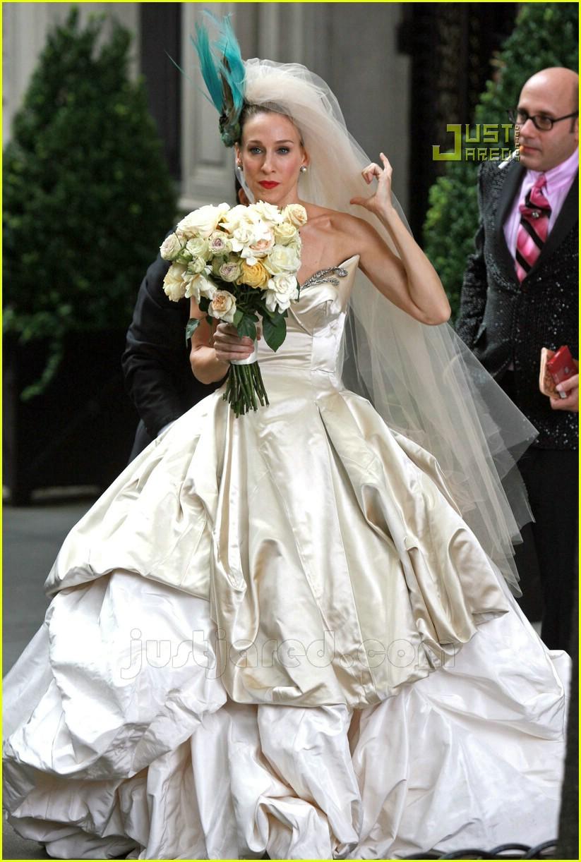 Full sized photo of sarah jessica parker wedding dress 21 for Sarah jessica parker wedding dress