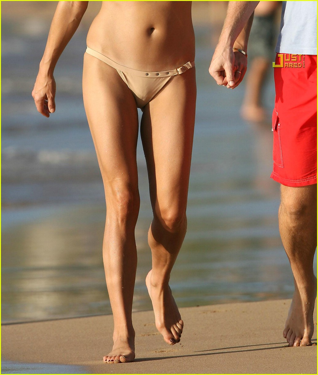 Kate Walsh Hits the Beach in a Bikini During Ibiza