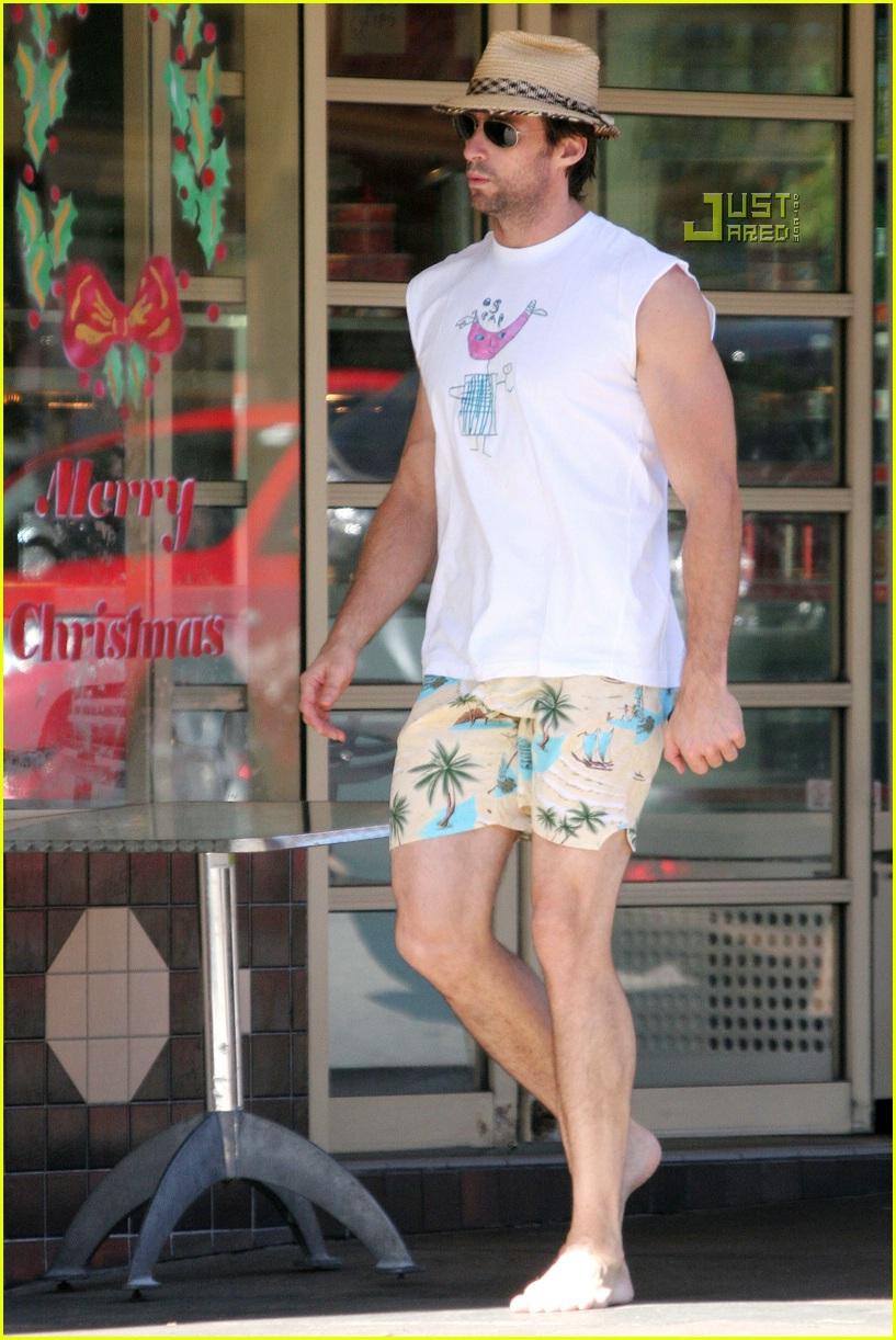 Hugh Jackman Barefoot