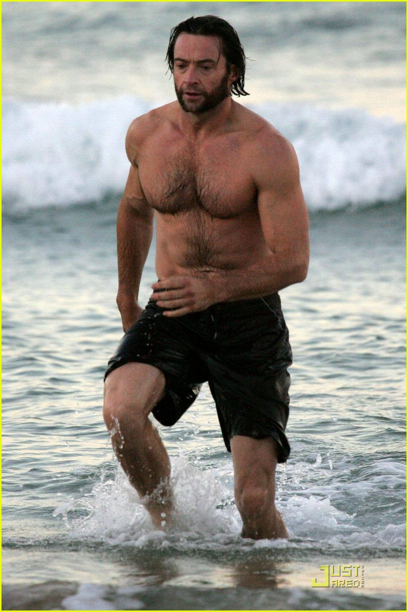 hugh jackman saturday morning swim 11