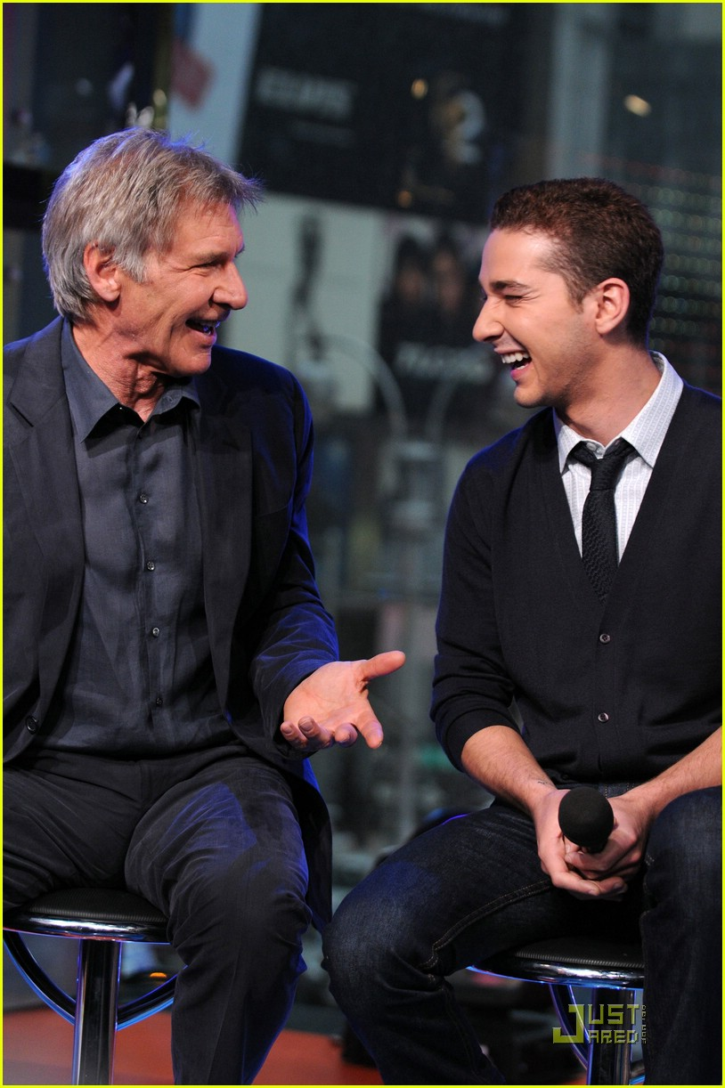 Full Sized Photo Of Shia Labeouf Harrison Ford Laughing 01