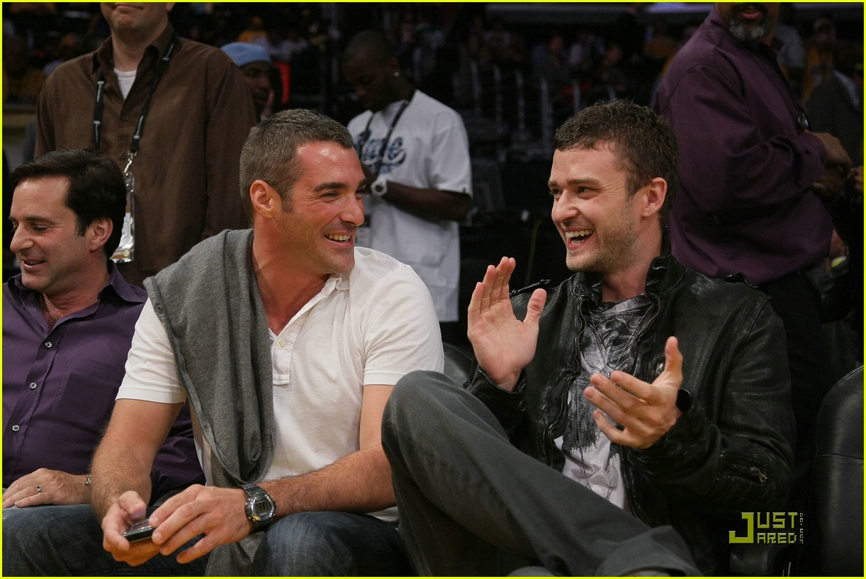 Full Sized Photo of justin timberlake david beckham nba ...
