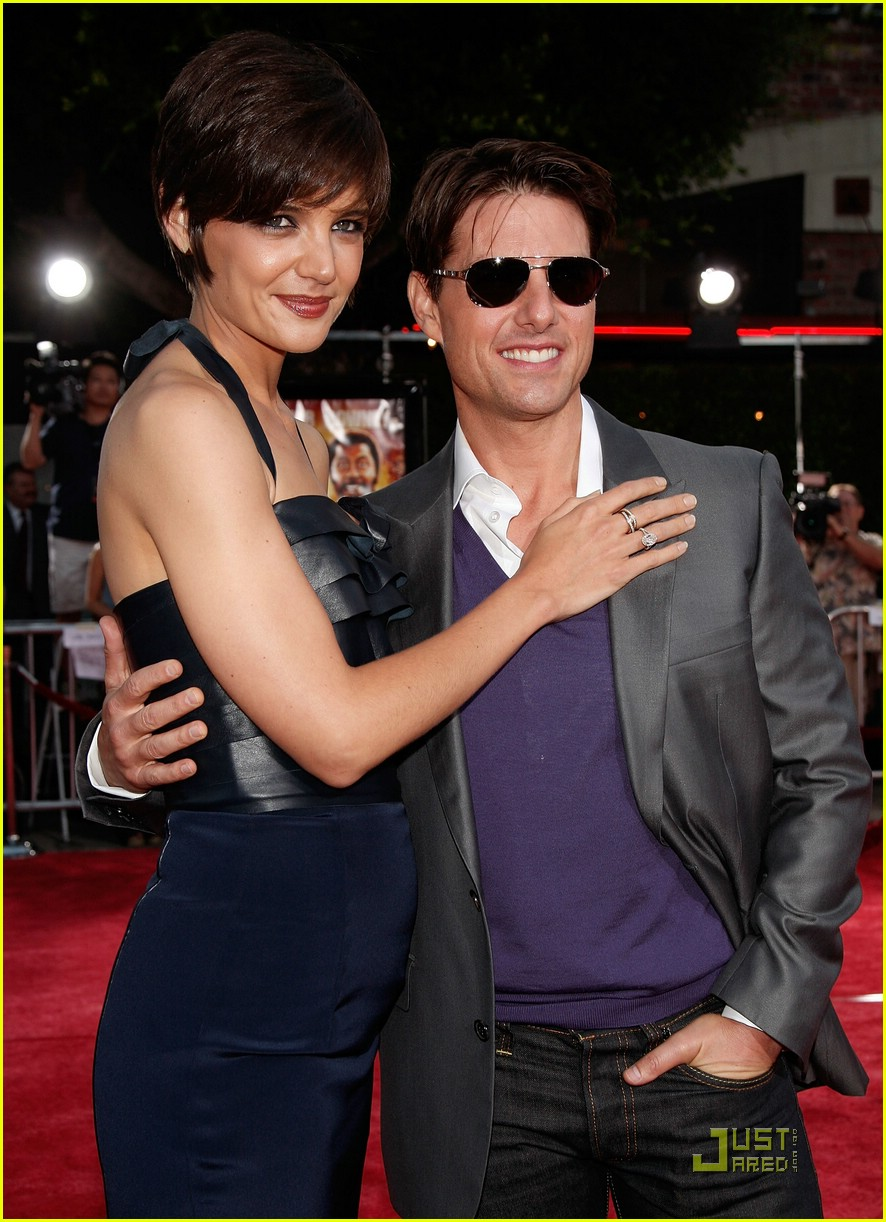 Full Sized Photo of katie holmes tom cruise purple pixie ... Tom Cruise Height