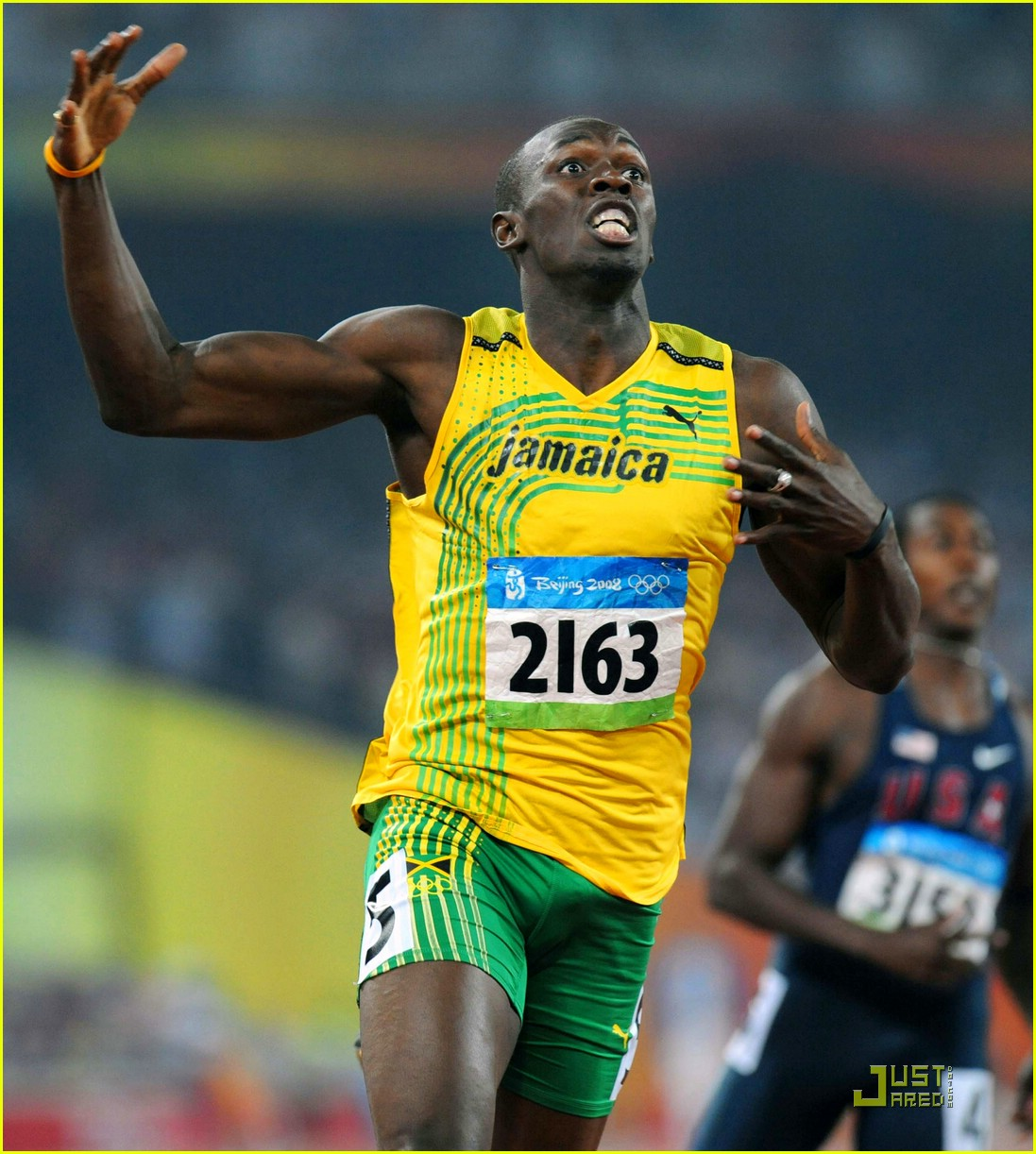 Full Sized Photo of usain bolt beijing olympics 100m 200m ...