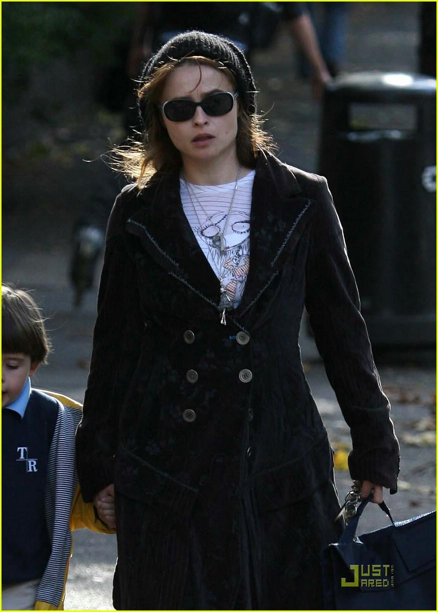 Helena Bonham Carter Wears Spring Shoes