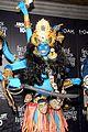 heidi klum blue indian goddess halloween 03