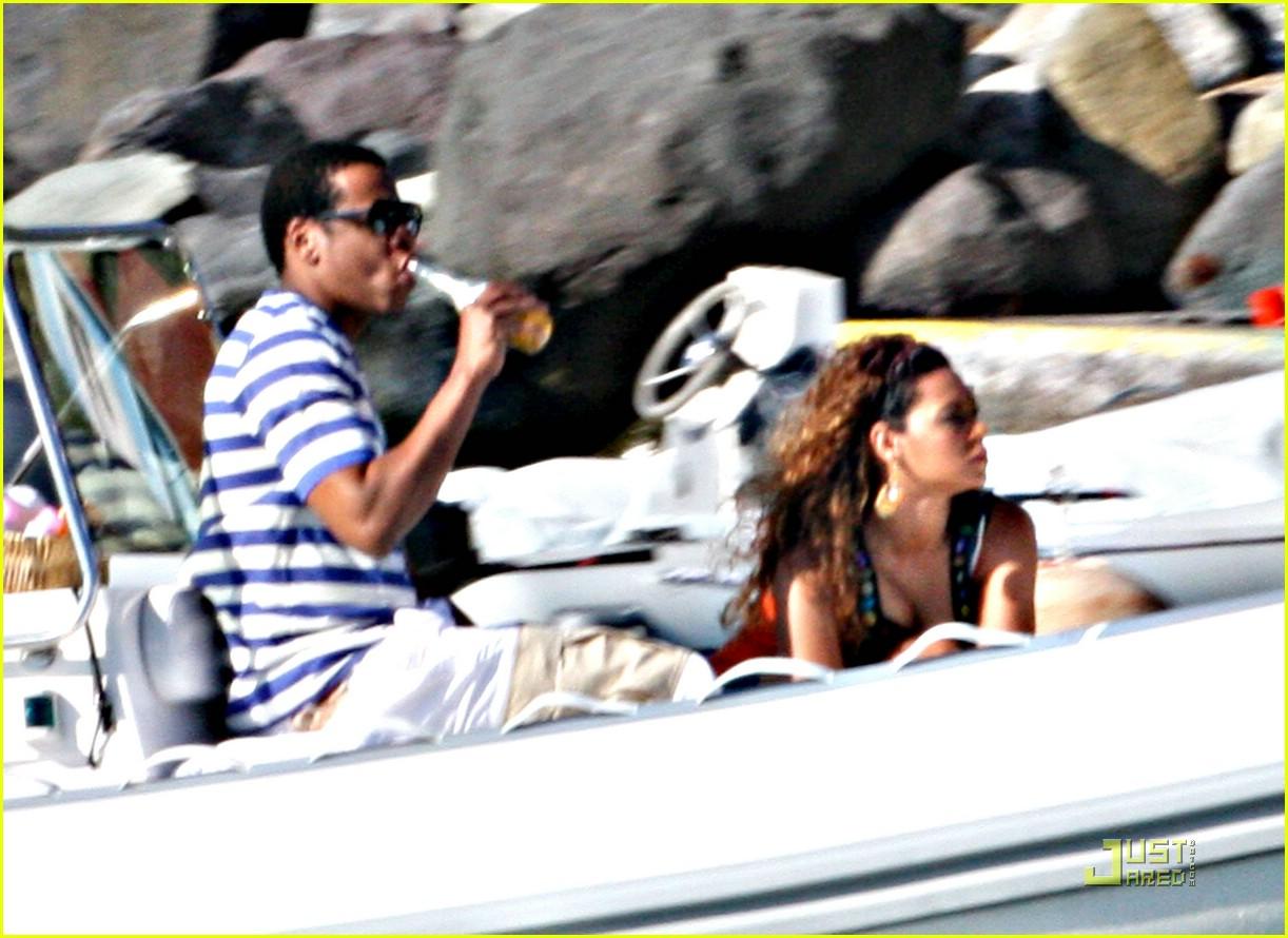 beyonce jay z st barts boating 07