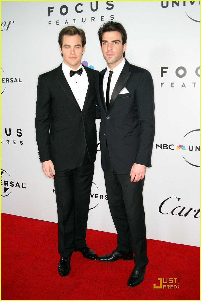chris pine zachary quinto golden globes 2009 02