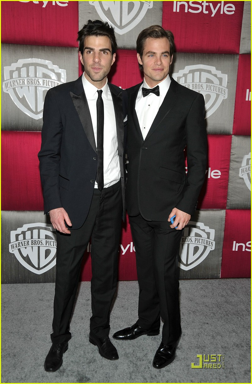 chris pine zachary quinto golden globes 2009 05