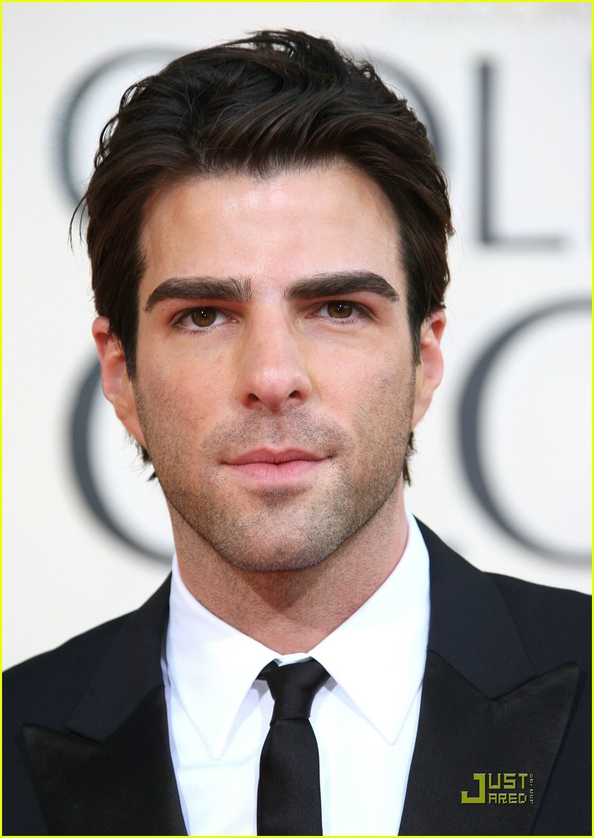 chris pine zachary quinto golden globes 2009 15