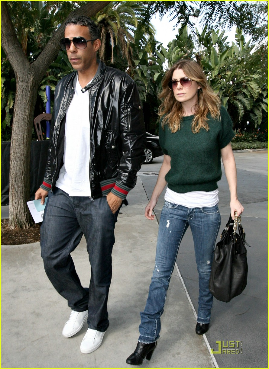 Ellen Pompeo with fun, Husband Chris Ivery