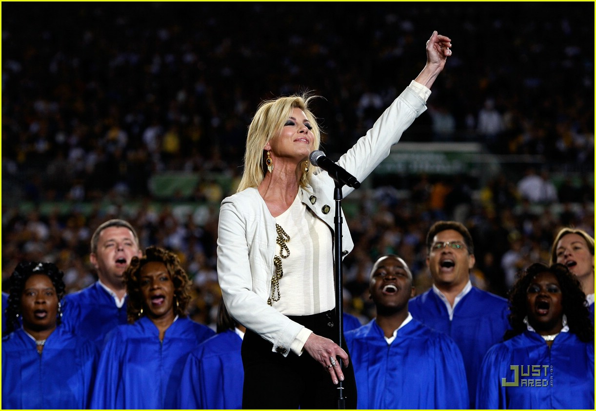 faith hill jennifer hudson superbowl 08