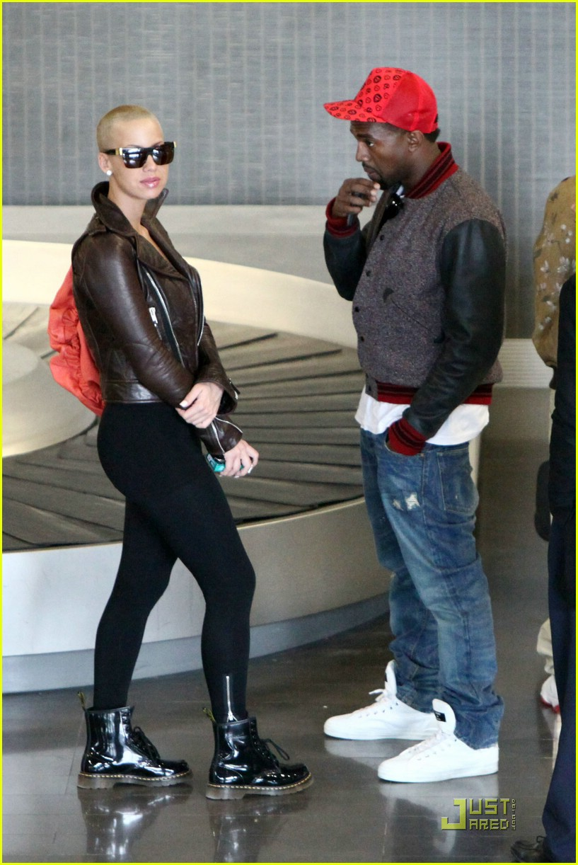 Full Sized Photo Of Kanye West Amber Rose Fashion Week 14 Photo 1775031 Just Jared