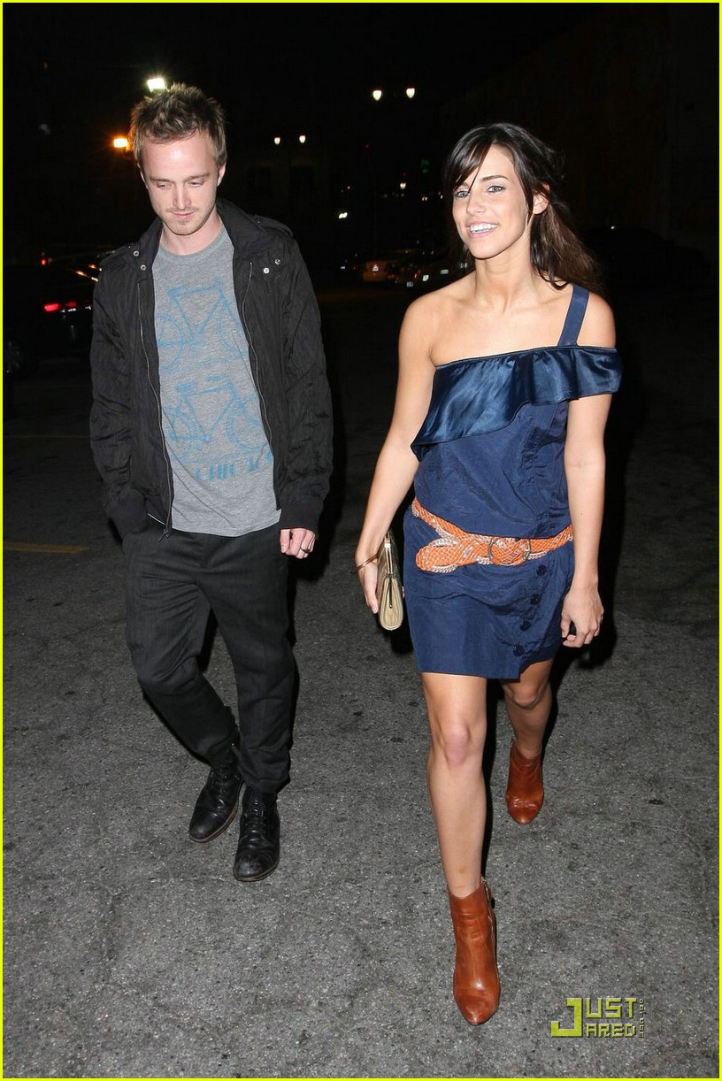 Full Sized Photo Of Jessica Lowndes Aaron Paul 04 Photo 1802891 Just Jared