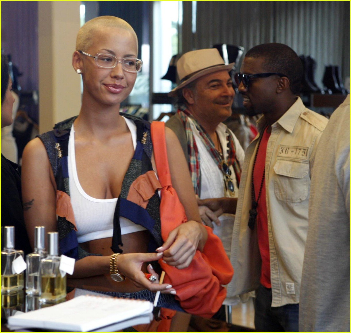 kaney west amber rose 09