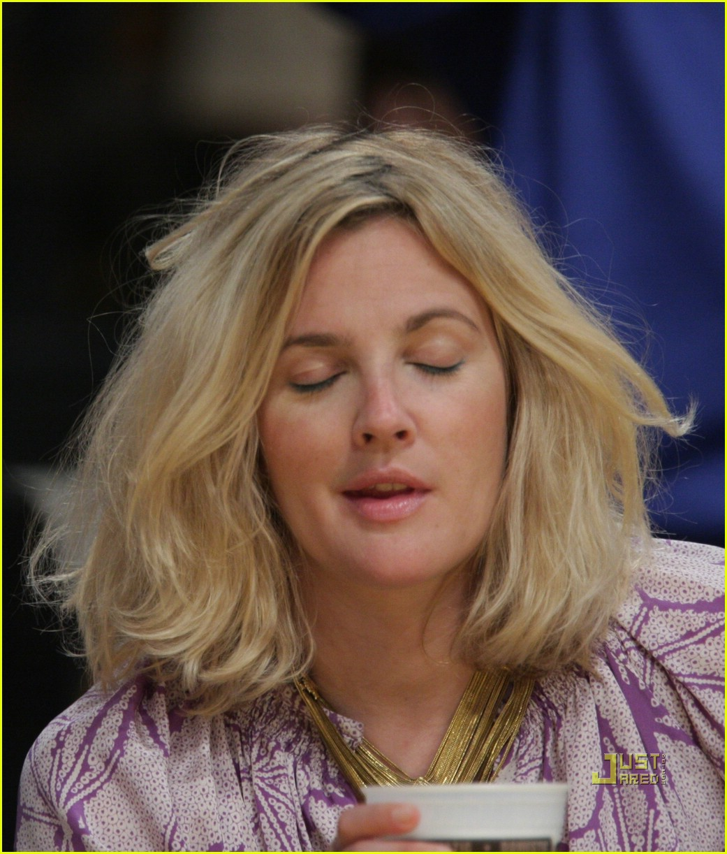 drew barrymore lakers game 06