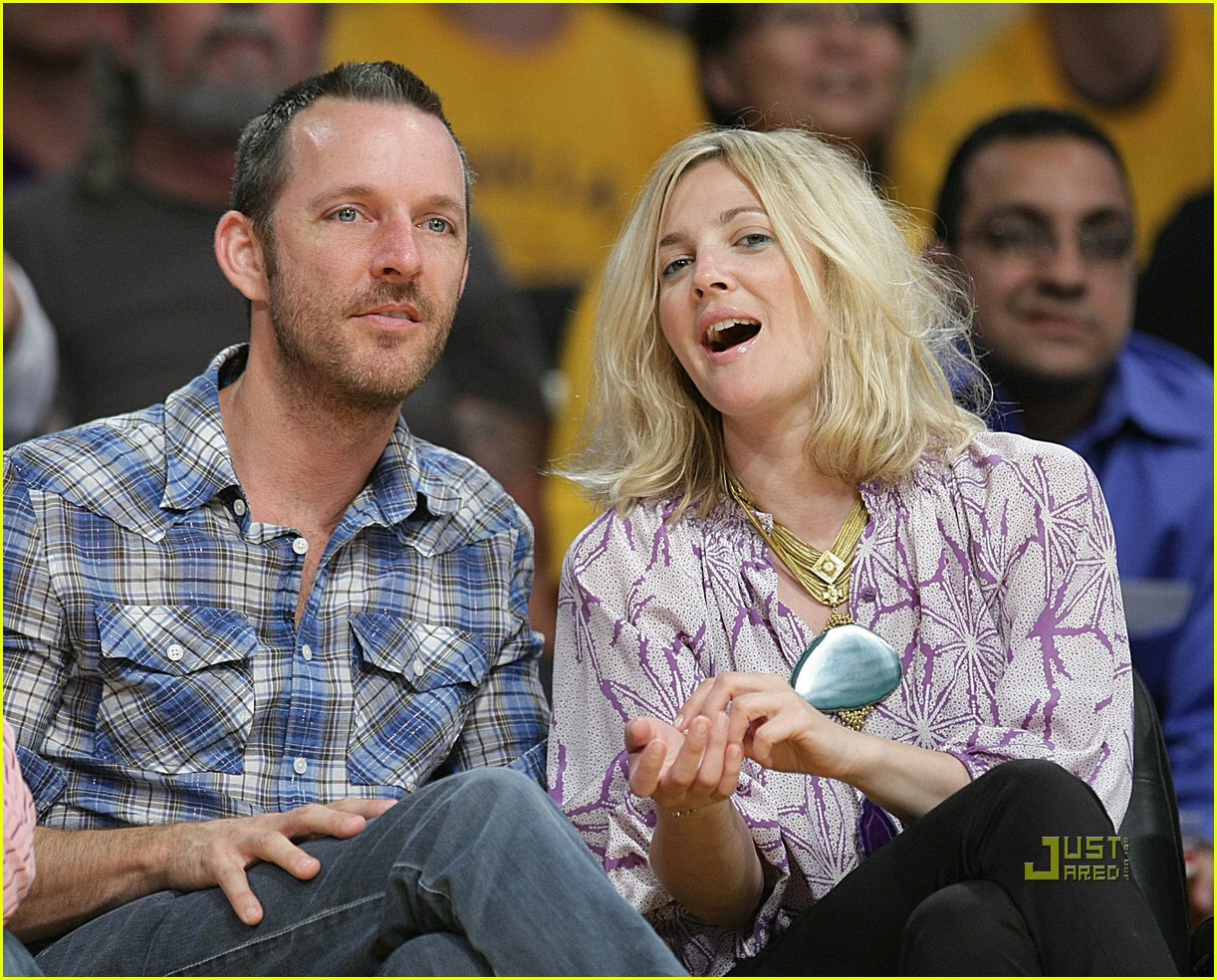 drew barrymore lakers game 08