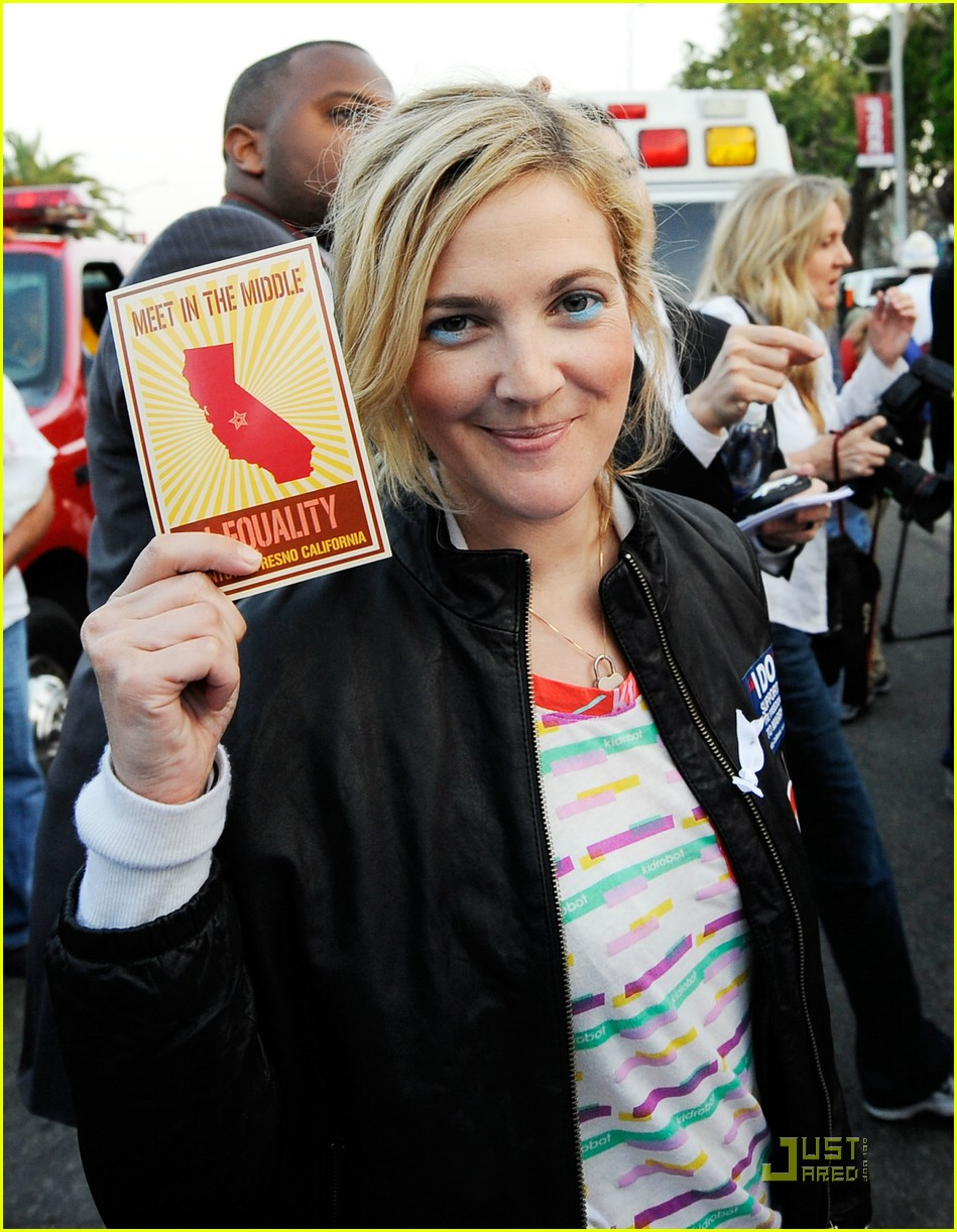 Posted in Drew Barrymore Attends Gay Marriage Rally