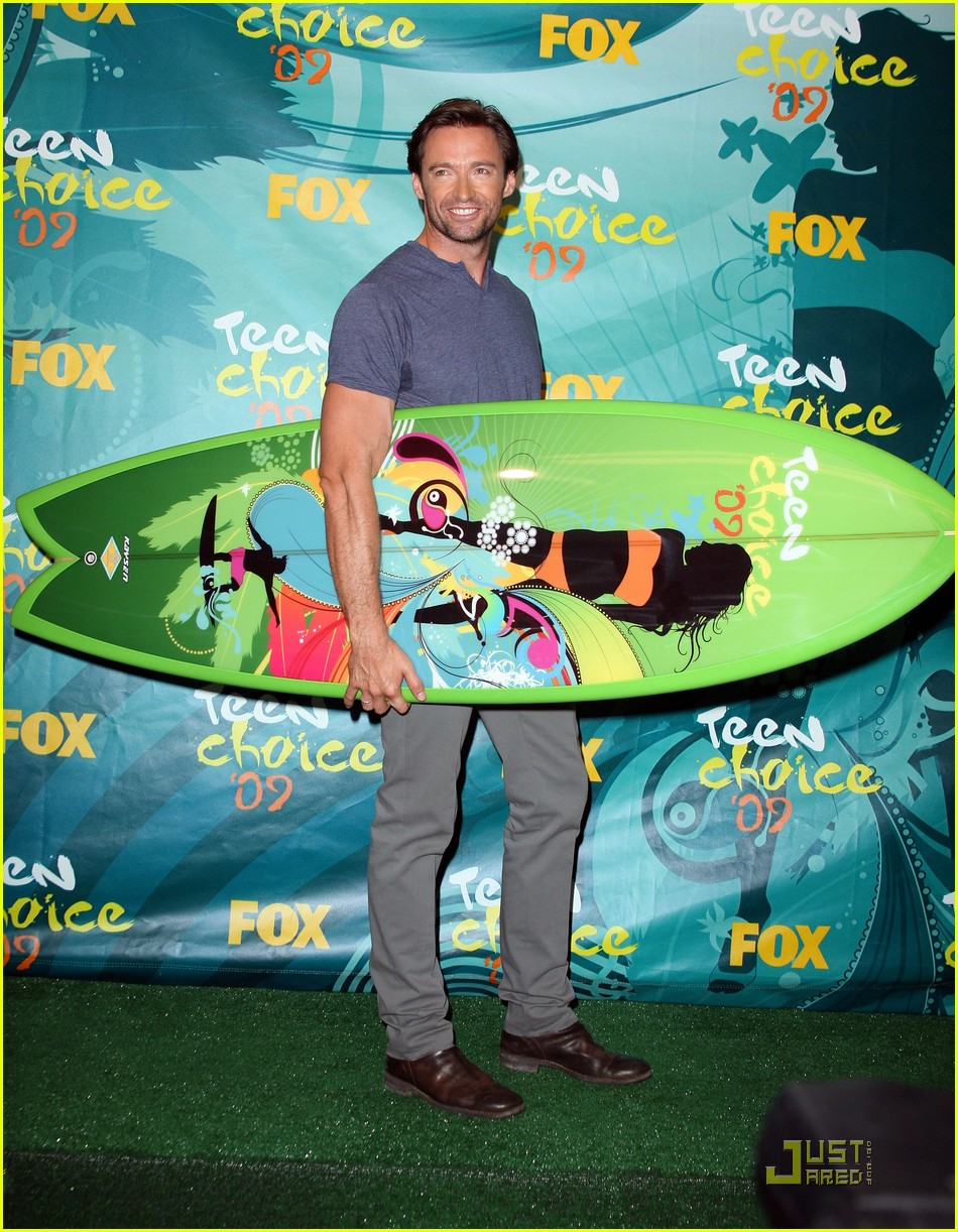 hugh jackman jordana brewster teen choice awards 22