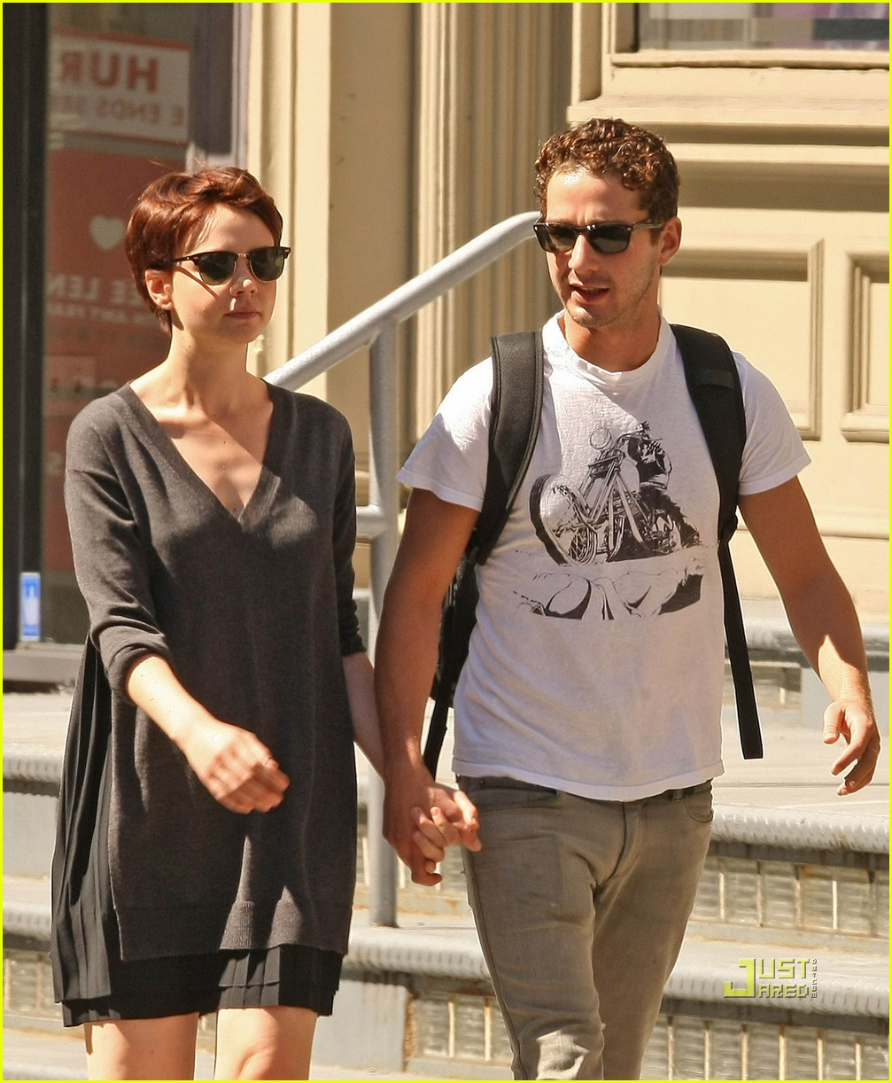 shia labeouf carey mulligan holding hands 01