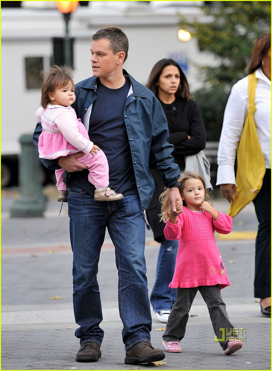 matt damon adjustment bureau family fun day 022313742