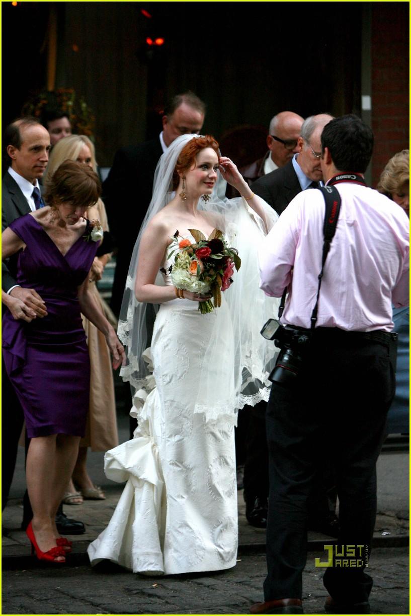 Full Sized Photo Of Christina Hendricks Wedding Pictures
