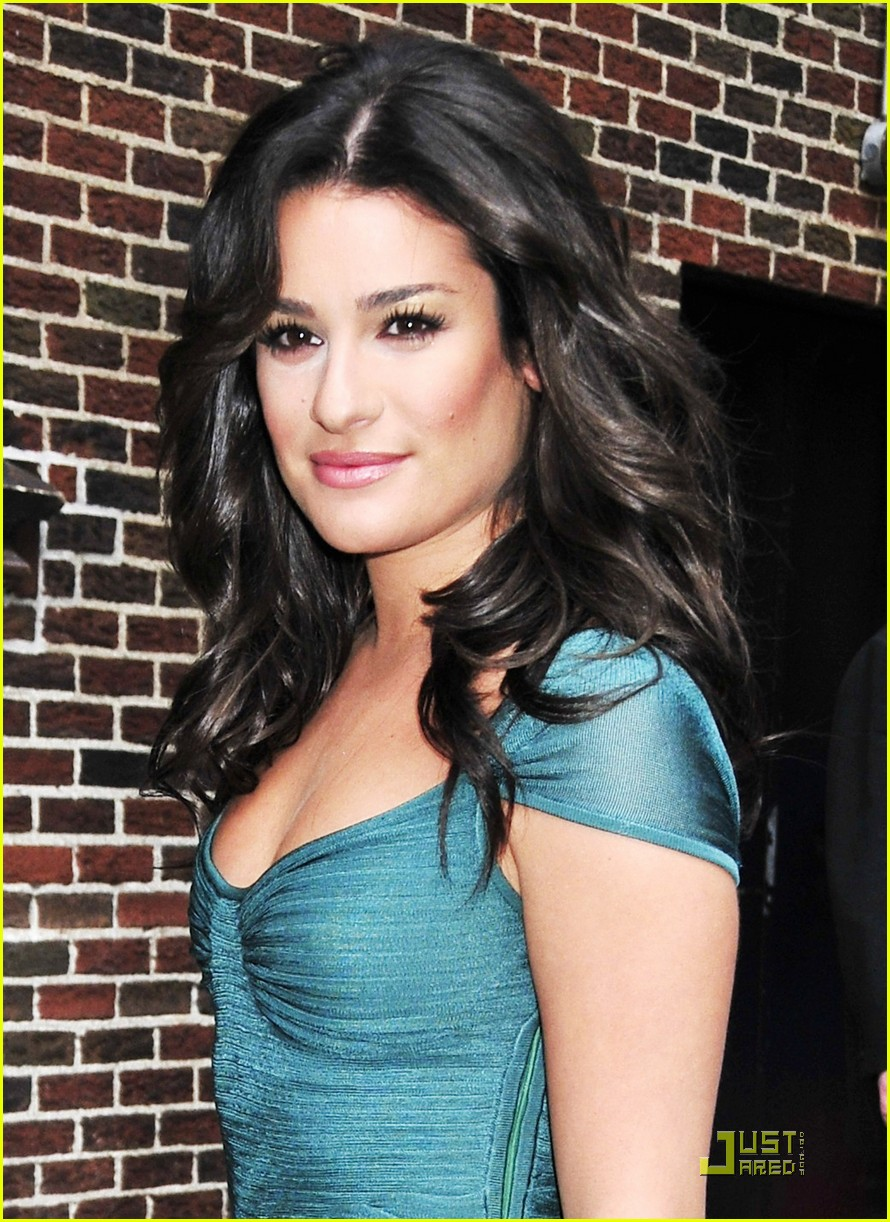 lea michele meets david letterman 02