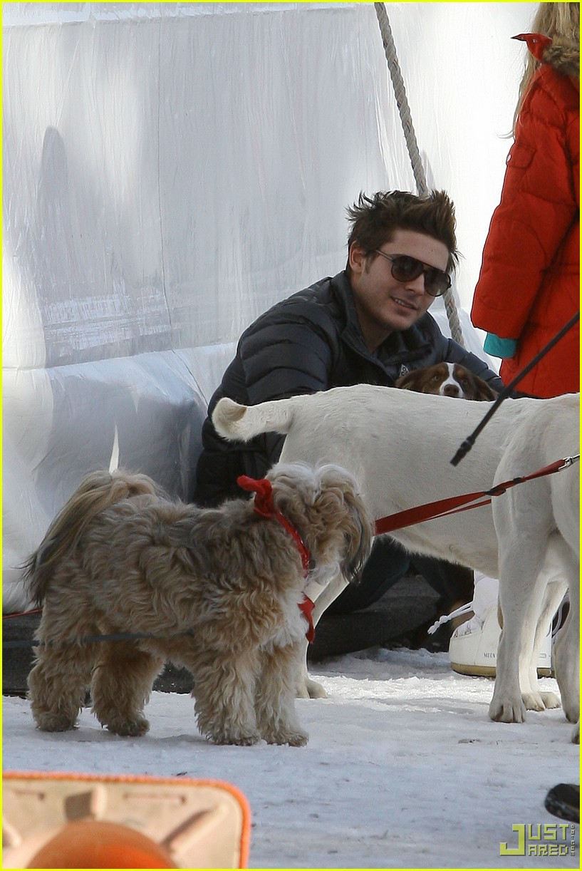 zac efron plays with dogs aspen 18