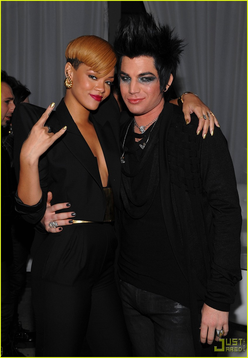 rihanna adam lambert vevo launch 192400813