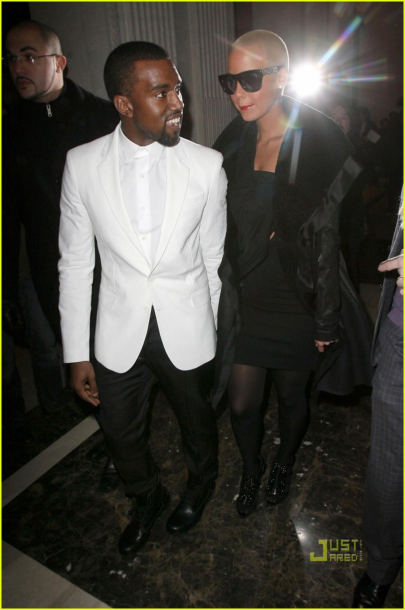kanye west amber rose givenchy paris fashion week 06