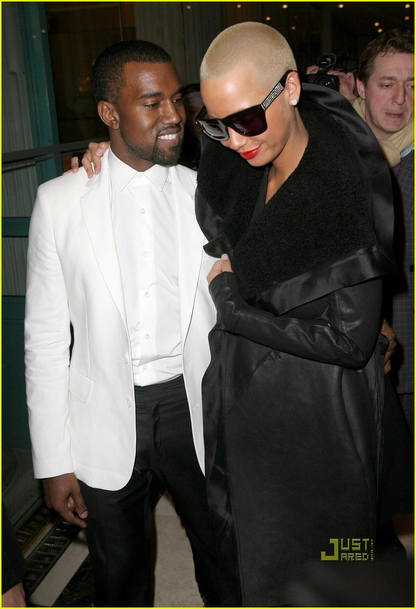 kanye west amber rose givenchy paris fashion week 07