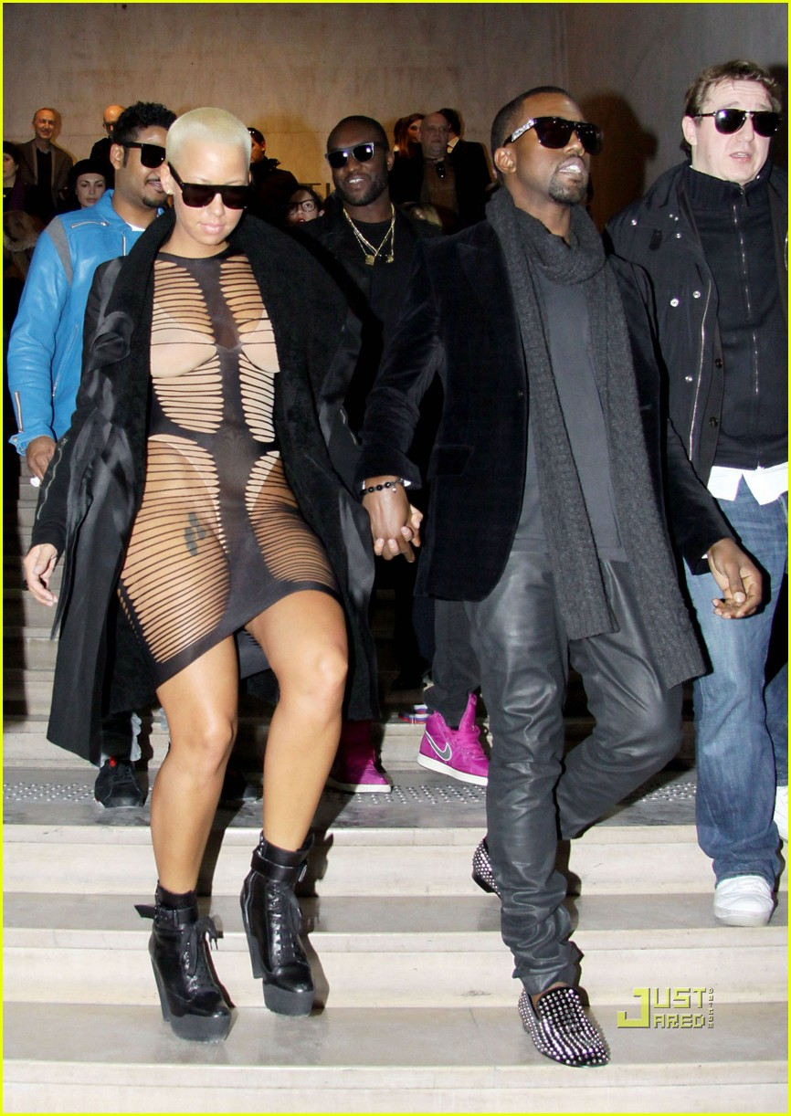 kanye west amber rose see through dress 02