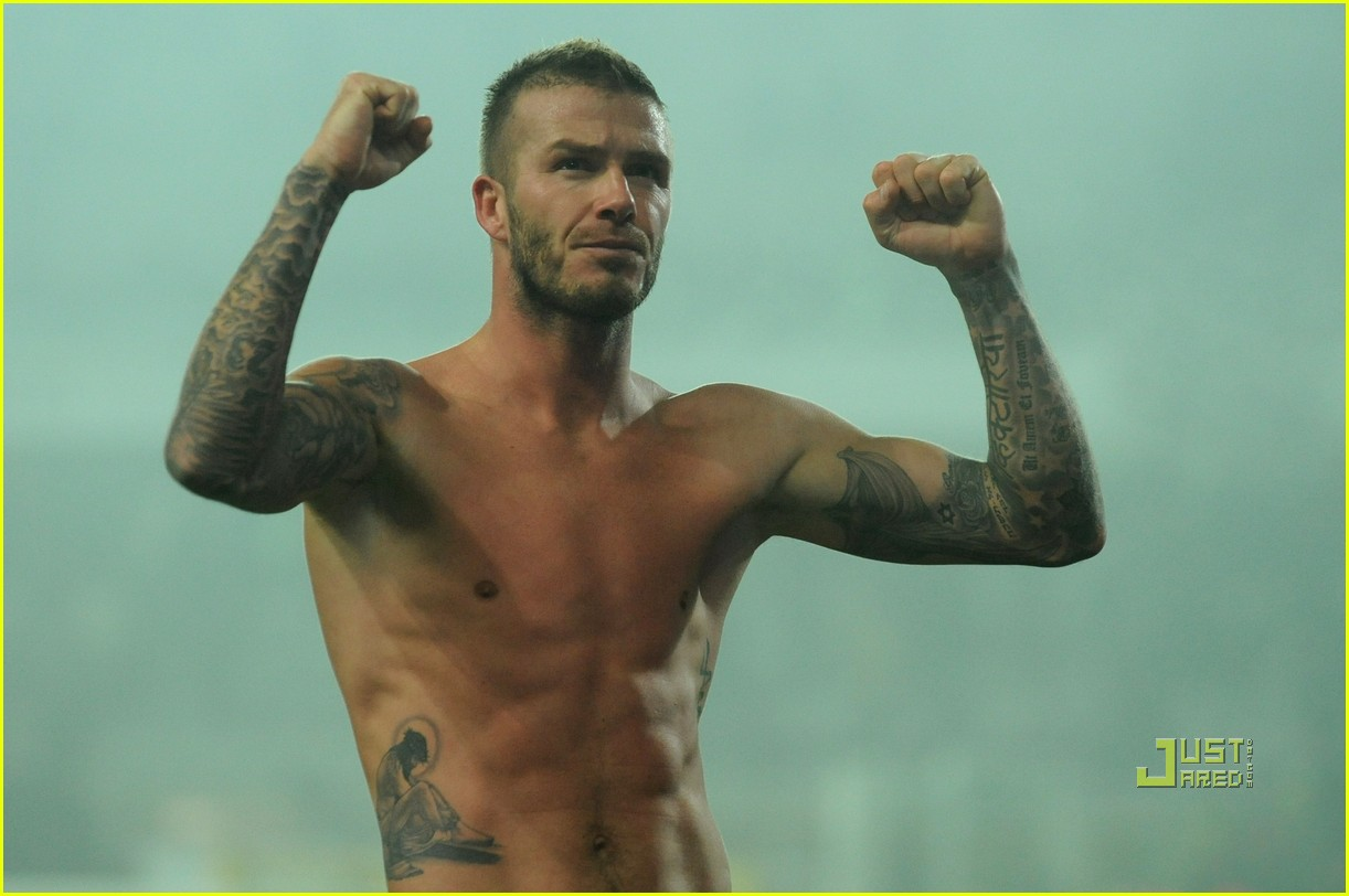 david beckham changing shorts 09