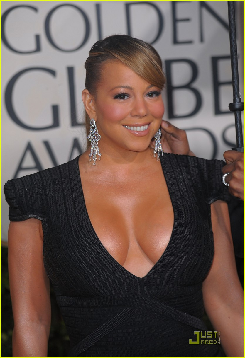 mariah carey 2010 golden globe awards red carpet 01
