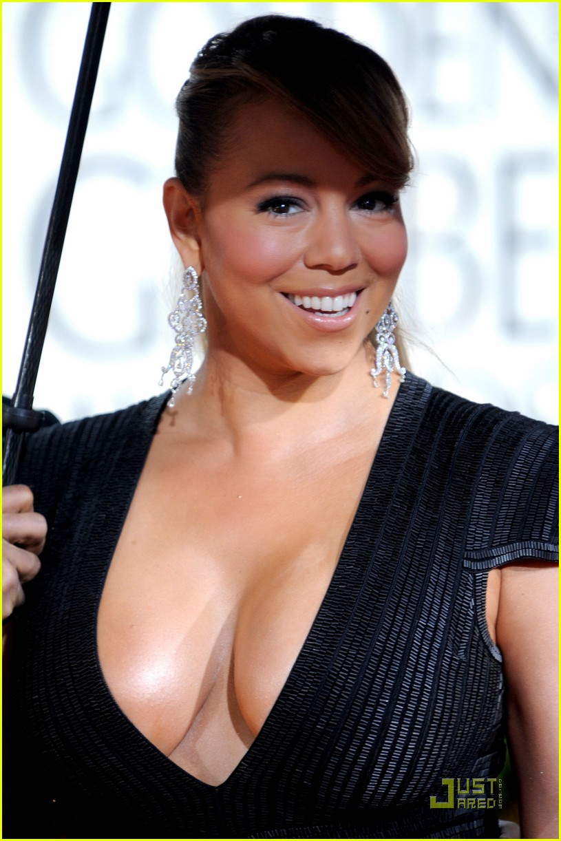 mariah carey 2010 golden globe awards red carpet 06
