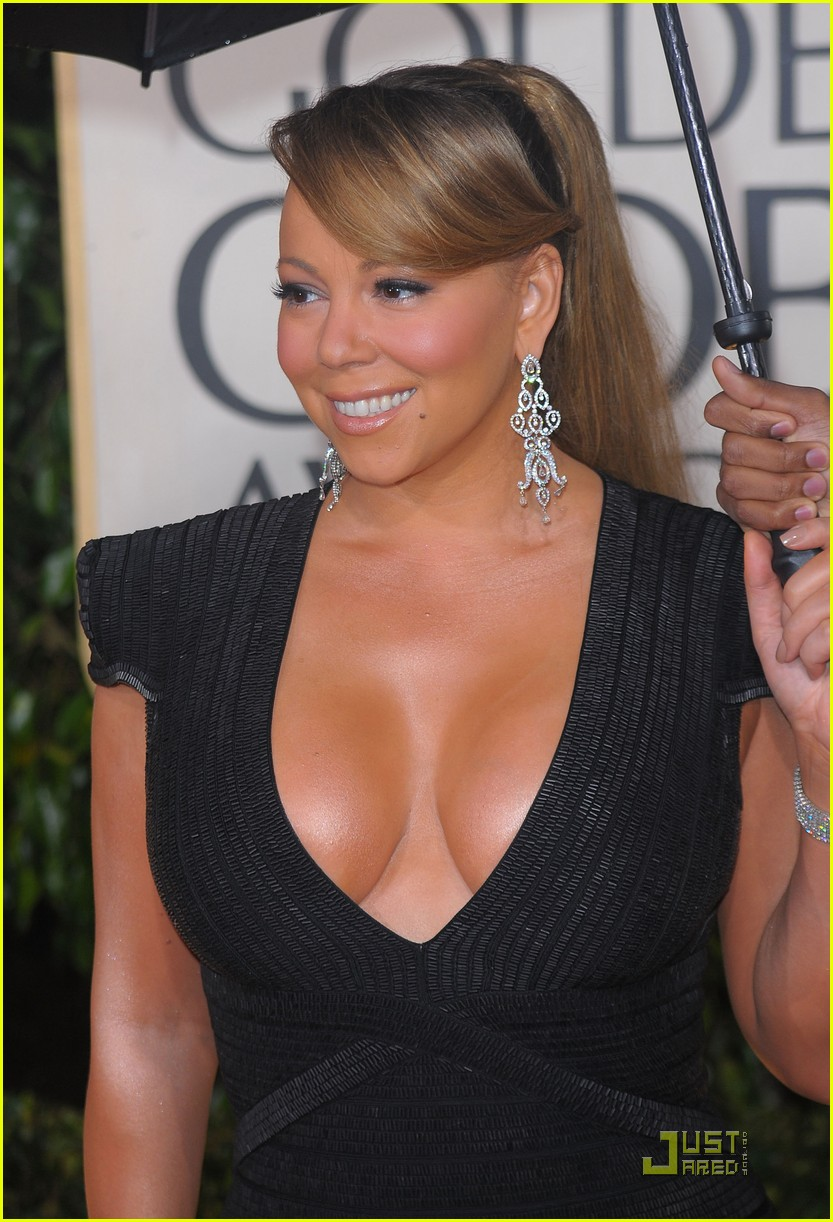 mariah carey 2010 golden globe awards red carpet 09