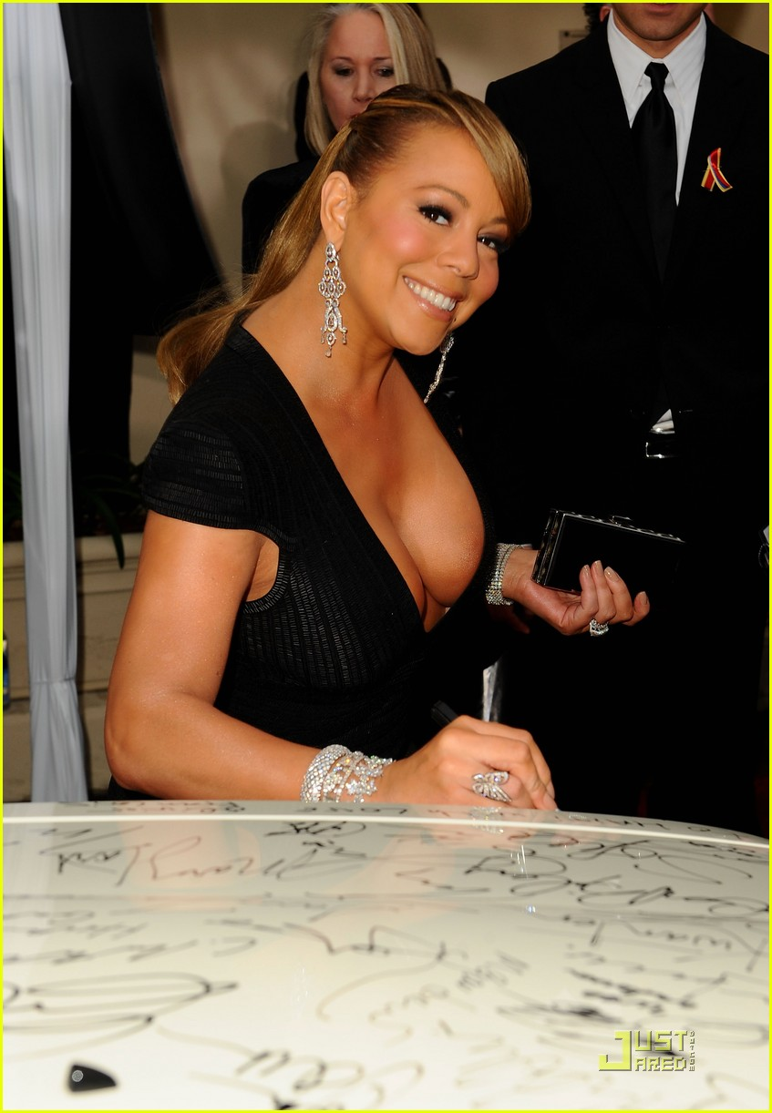 mariah carey 2010 golden globe awards red carpet 18