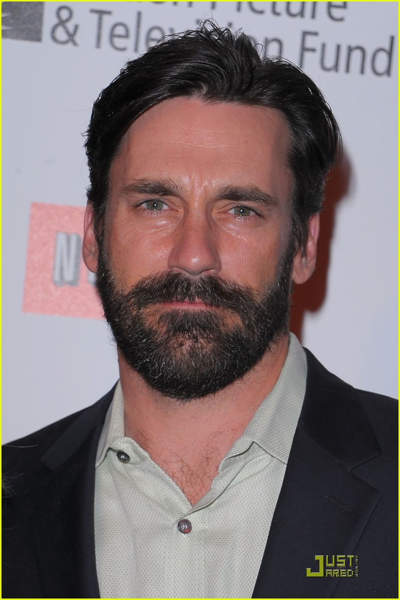jon hamm boasts a beard 062408214
