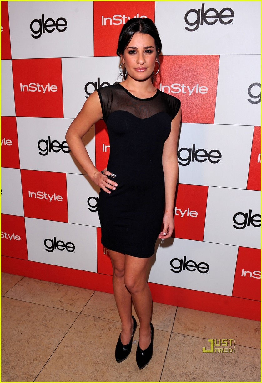 lea michele cory monteith glee picked up second season 07