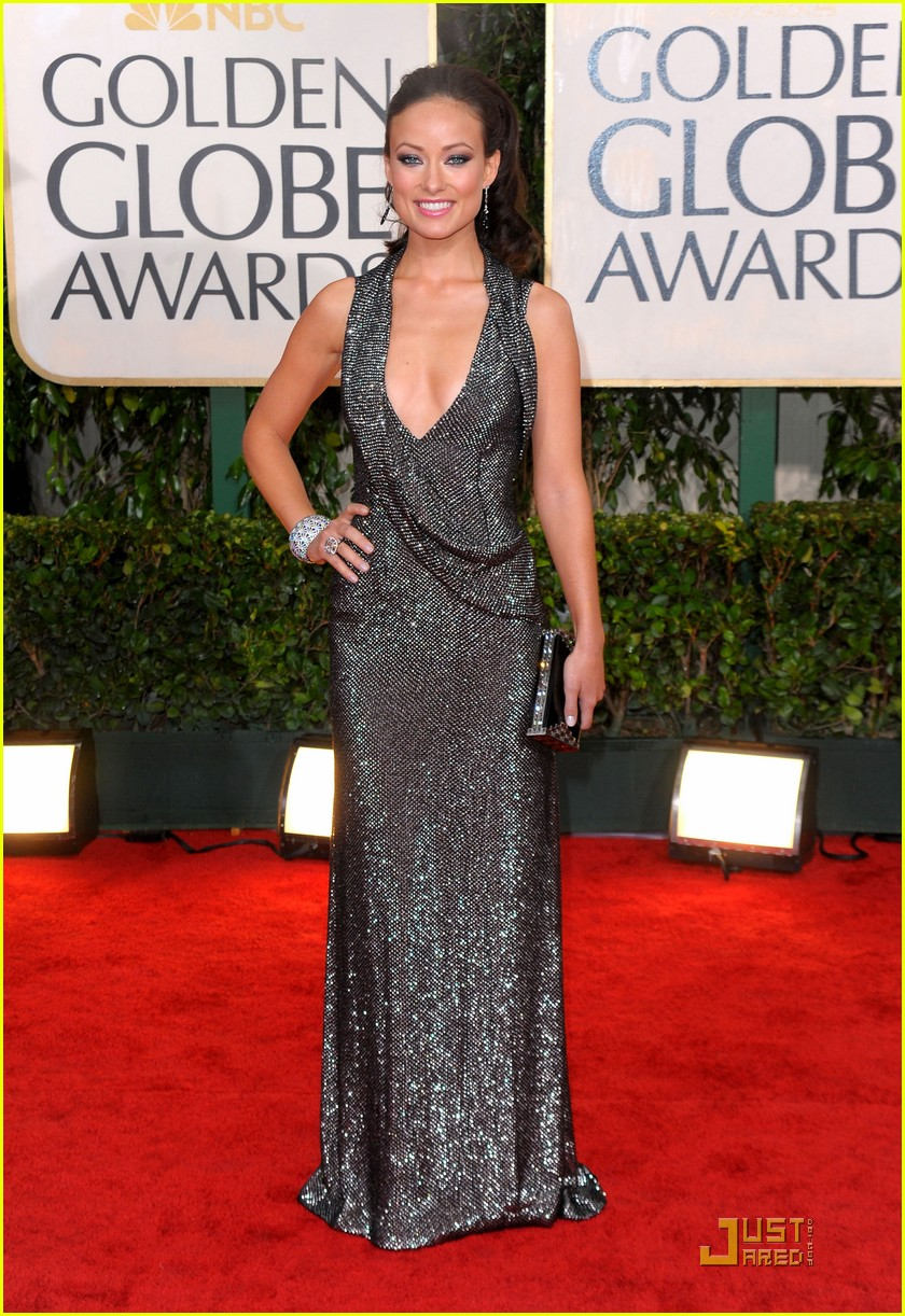 olivia wilde 2010 golden globe awards red carpet 04